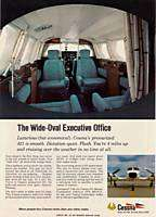 1969 Cessna 421 Airplane Wide Interior Photo print ad