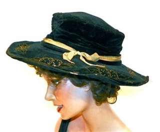 19c Antique Victorian Hand Stitched LADIES CHAPEAU Bonnet Hat PRIVATE