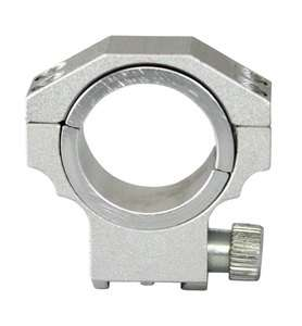 Silver Low Profile Ruger 30mm / 1 Scope Ring