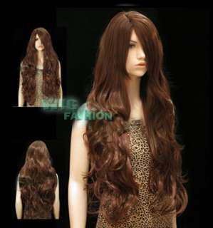 Anime Cosplay Long Dark Brown Hair Wigs MB86