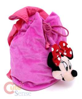 Disney Minnie Mouse PlushBackpack Bag w/Plush Doll 10