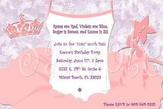 Ballerina Custom Birthday Invitation With Envelopes Personalized New