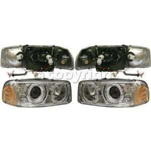 CLEAR HEADLIGHT gmc SIERRA PICKUP DENALI 02 05 99 05 YUKON XL 01 05 00