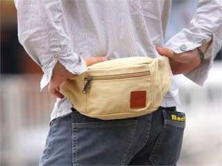Fashion Mens Beige Canvas New Waist Packs High Quality Fanny Bags