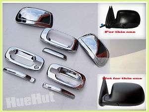 Silverado Sierra Chrome Handle Tailgate Mirror Covers