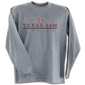 Texas A&M Aggies TAMU NCAA Dark Ash Long Sleeve T Shirt
