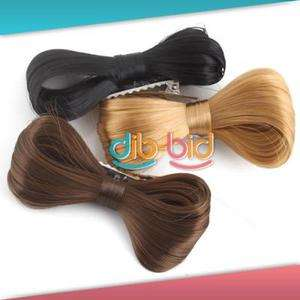 Fashion Women Hair Bow Bowknot Wig Hair Party #2