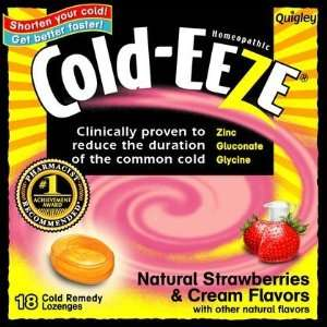 Cold EEZE Zinc Gluconate Lozenges Strawberries & Cream 3
