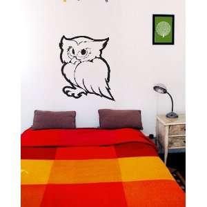 23 inch Owl vinyl decal wall sticker