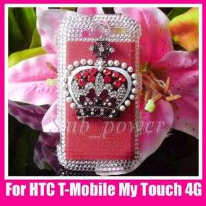 Crown Bling Crystal Case cover for HTC T Mobile mytouch 4G B17