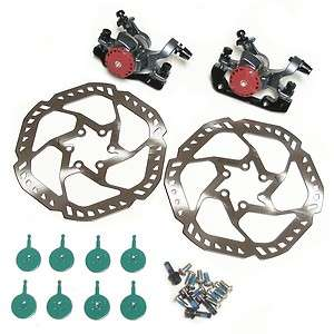 DISC BRAKE SET   160MM ROTORS   BIKE BICYCLE + 4 SETS AVID BB5 PADS