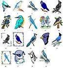 Blue Jay Blue Bird Return Address Labels Gift Favor Tags Buy 3 Get 1