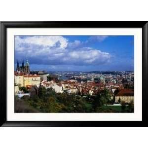 City from Terrace of Restaurant in Mala Strana, Prague, Czech Republic