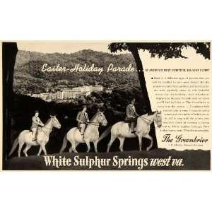 1941 Ad Greenbrier Resort West Virginia Horse Riding