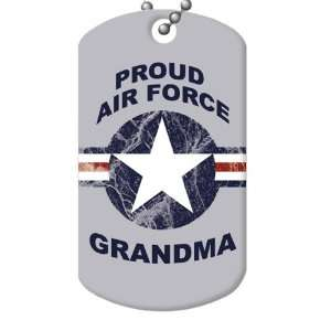 Proud Air Force Grandma Dog Tag and Chain Everything Else