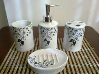 Ceramic Bathroom Accessories Set Vanity Dispenser YC 1007