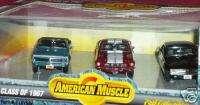 ERTL 1967 FIREBIRD CAMARO SHELBY MUSTANG 3 CAR SET HTF