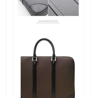NWT Mens PU Leather Briefcase Tote Bag TOP Brand Design Mulkin Office