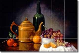 Poole Wine Grapes Fruit Kitchen Ceramic Tile Mural Art