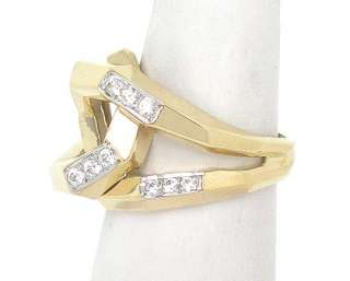 LOVELY 14K GOLD & DIAMONDS UNIQUE KNOT DESIGN BAND RING