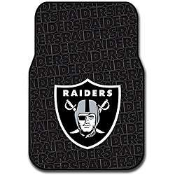 Oakland Raiders 2 piece Front Floor Car Mat Set
