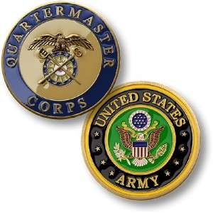 US ARMY QUARTERMASTER CORPS MILITARY CHALLENGE COIN