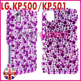 DIAMOND BLING GLITTER CASE COVER FOR LG COOKIE KP500