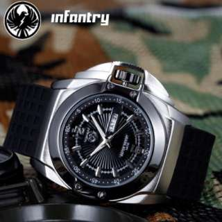 Army Rubber Mens INFANTRY Analogue Outdoor Sports Fashion Watch