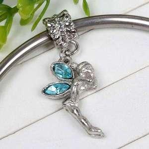 Crystal Rhinestone Fairy Angel Ball European Bead Fit Charm Bracelet