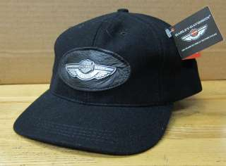 Harley Davidson 100th Anniversary Black Wool Cap Size Medium 7 1/16