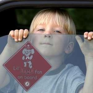 Alabama Crimson Tide Lil Fan On Board Car Sign