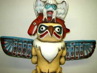 7Ft Native American Indian Totempole Eagle