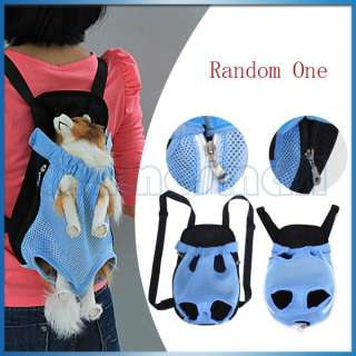 Pet Dog Carrier Backpack Front Style Bag w/ Legs Out Design Breathable