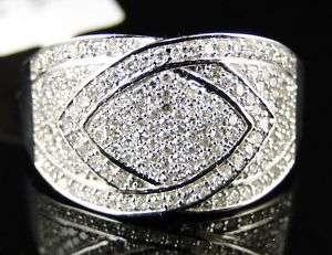 10K WHITE GOLD FASHION PAVE BAND DIAMOND RING .50 CT