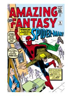 Amazing Fantasy #15 Cover: Spider Man Swinging Posters by Steve Ditko