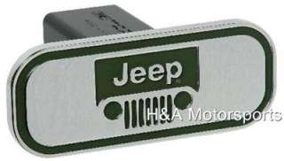 JEEP LOGO CHROME HITCH COVER ALUMINUM BILLET