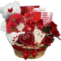 of Appreciation Valentines Treasures Teddy Bear Gourmet Gift Basket