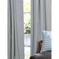 Grey Blue Velvet 84 inch Blackout Curtain Panel