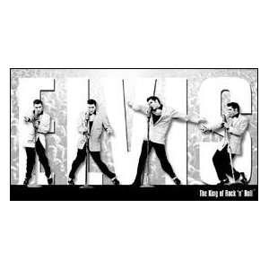 Tin Sign Elvis   King Montage