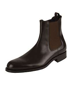 Prada Mens Brown Leather Chelsea Boots
