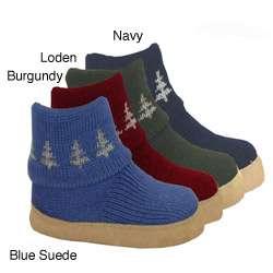 Muk Luks Womens Tree Jacquard Boot Slippers