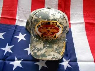 Veteran 1959 1975 Army, USMC, Navy & AirForce Camo Cap/Hat NWT