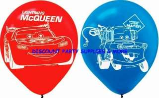 Disney Cars Lightning McQueen & Mater Latex Party Balloons Decorations