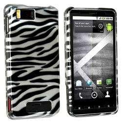 Silver/ Black Zebra Case for Motorola Droid Xtreme/ Droid X