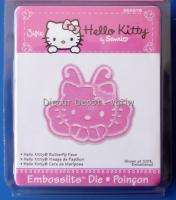 New SIZZIX Embosslits Die HELLO KITTY BUTTERFLY FACE