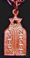 Rose Gold Plated Jewish Scripture Star Of David Charm