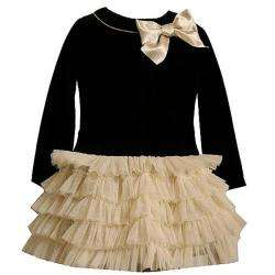Bonnie Jean Girls Black Tulle Christmas Dress  Overstock