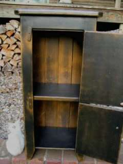 PRIMITIVE WOODEN WOOD CUPBOARD CABINET STORAGE/ SHELF