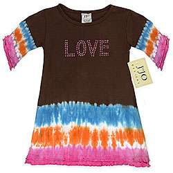 JoJo Designs Baby Girls Love Tie dye Dress