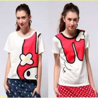 2012 Japanese New Ladies Girl Cute Rabbit T Shirt Top Short Sleeve